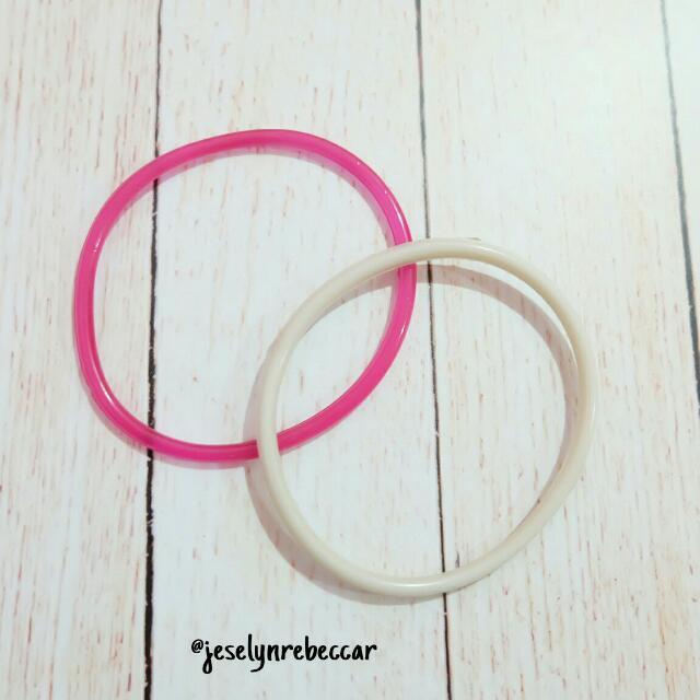 Gelang Pink + Putih biasa (unisex)