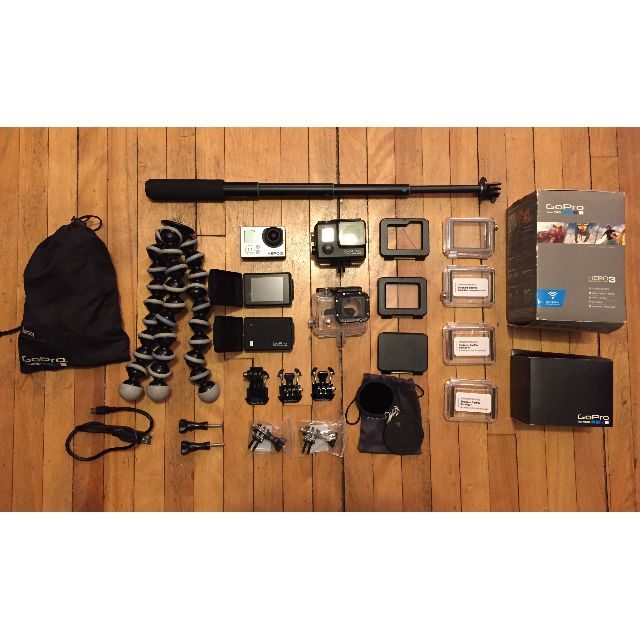 GoPro Hero 3 - Silver with LCD & much more!
