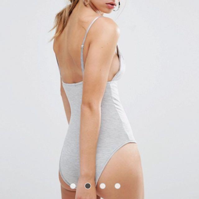 Grey Cami Bodysuit