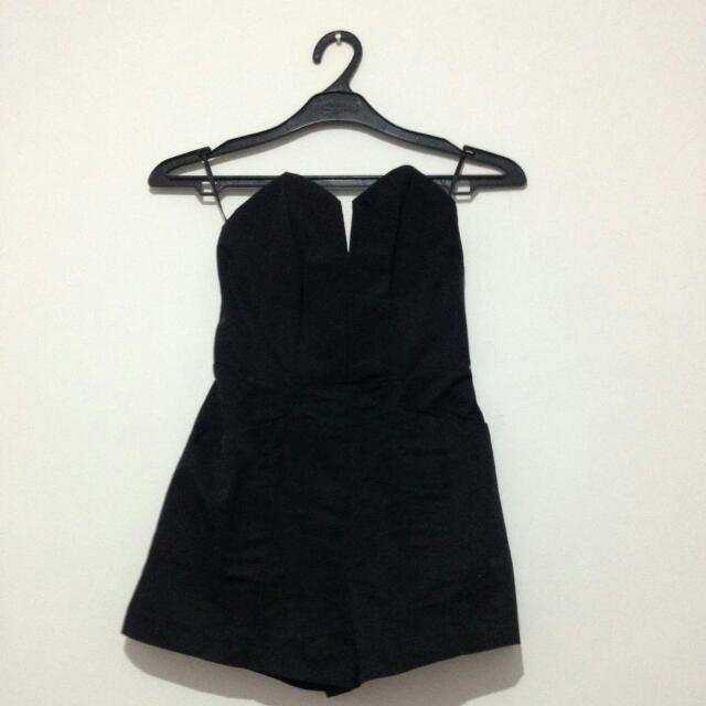 [NETT] HnM Black Mini Jumpsuit