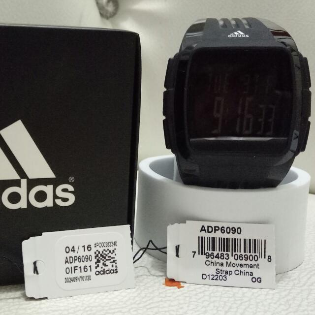 jam tangan watch adidas original ADP 6090 Duramo black