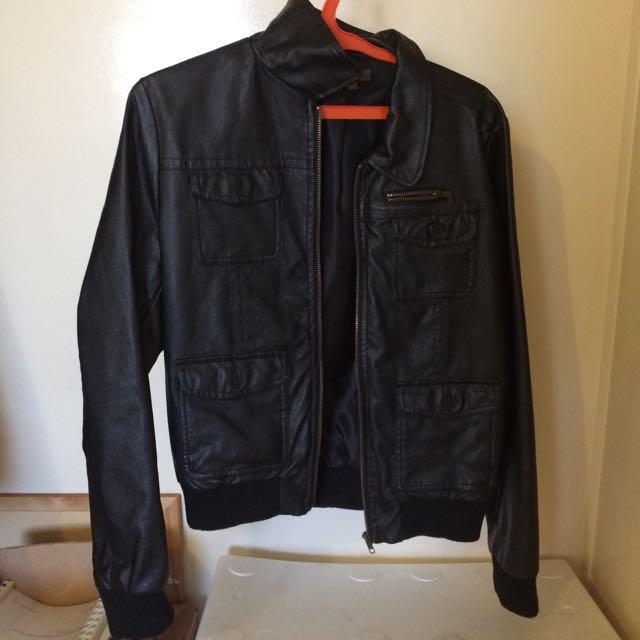 Katie's Leather Jacket (fake)