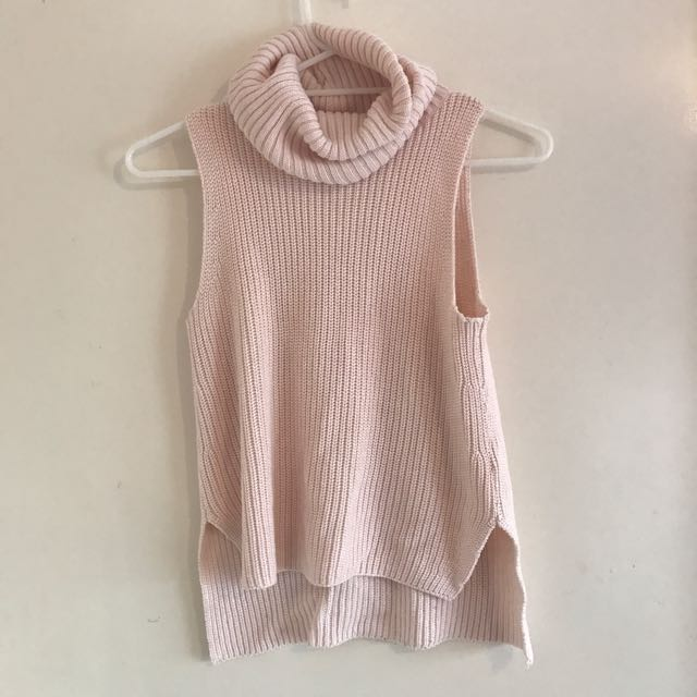 Knitted Baby Pink Turtle Neck