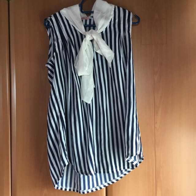 Korean Pinstripe With Ribbon