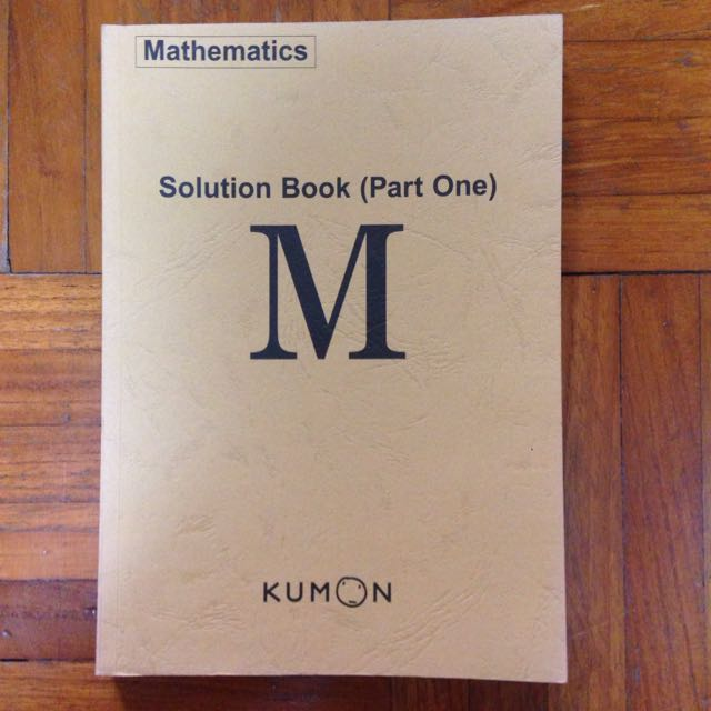 Kumon Answer Book M Part 1 Books Stationery Fiction On