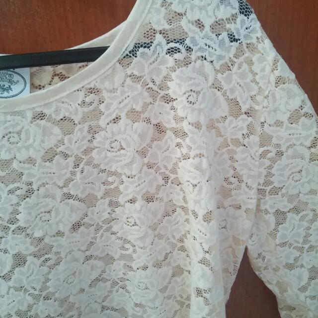 Laura Ashley Lace Top