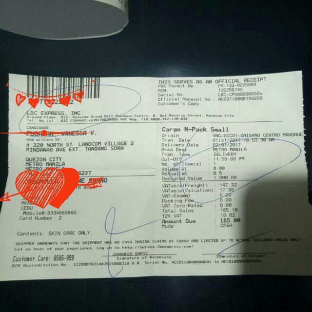 Legit Seller : Proof of shipment