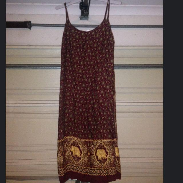 Medium Elephant Print Dress