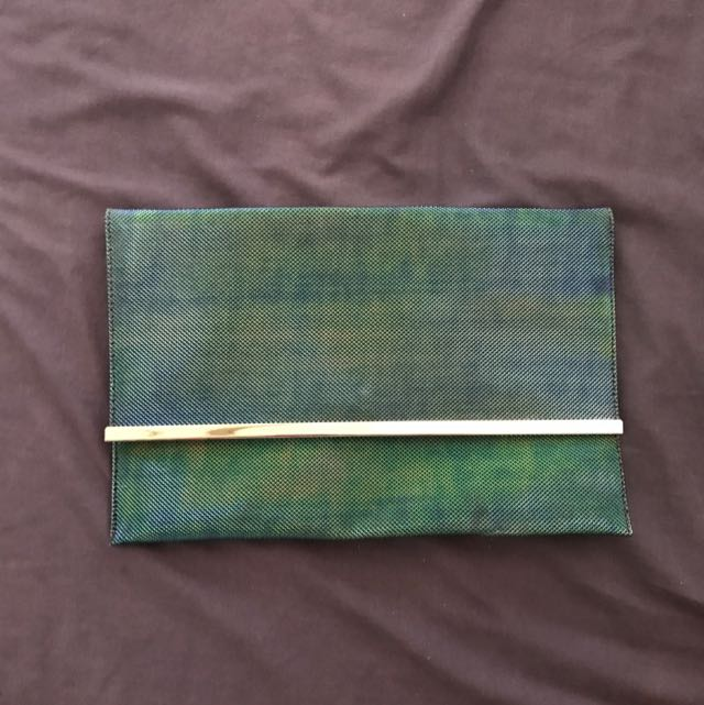 Mermaid Blue Green Clutch