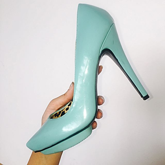 Pistachio Green Colour High Heels