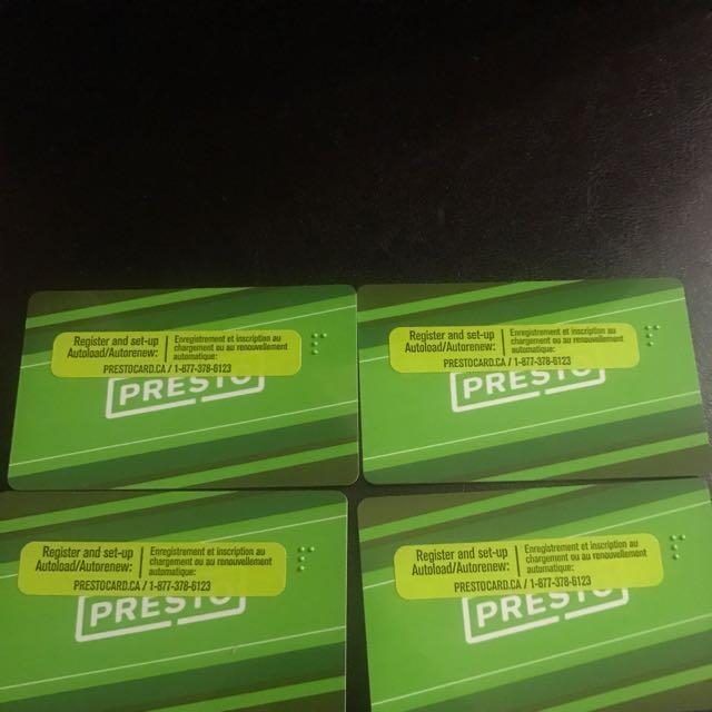 Presto cards Value Of 510$