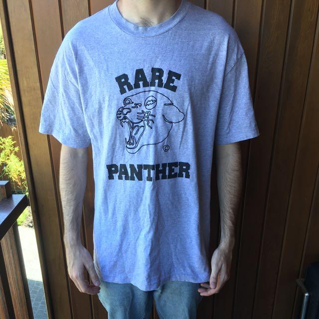 Rare Panther Size Large Heather Grey T Shirt