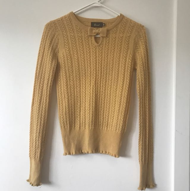 Revival Yellow Vintage Sweater