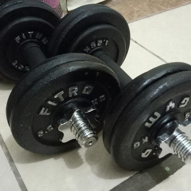 Set Barbell Dumbell 15 Kg (2 Set)