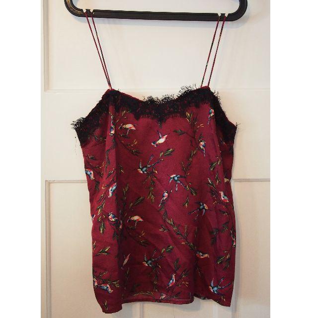 Silky red pattern singlet size 10