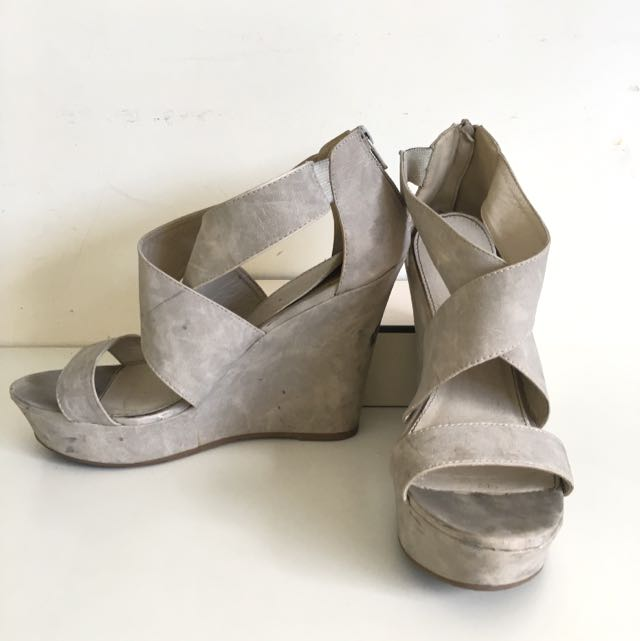 Size 8 Shoes Nude Wedges