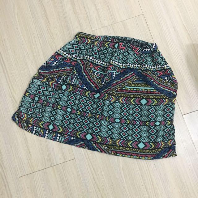 Stradivarius Tribal Mini Skirt