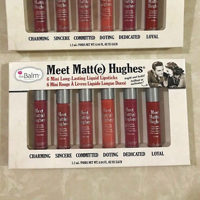The Balm Meet Matte Hughes 6 Mini Liquid