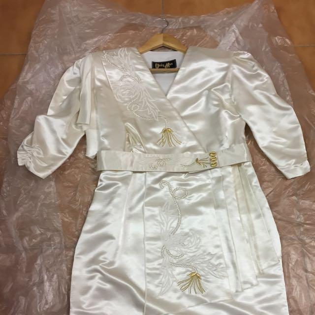Vicky Mar Off White Kimonos Dress Size 14
