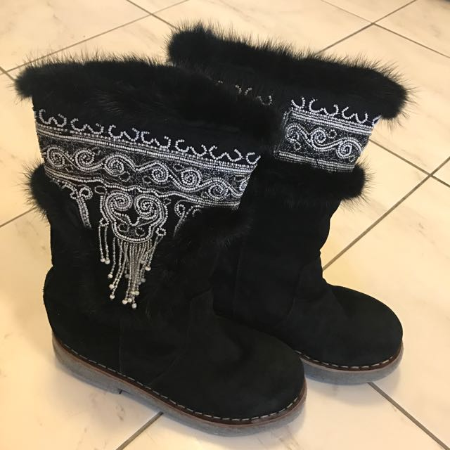 Warm Fur Winter Boots