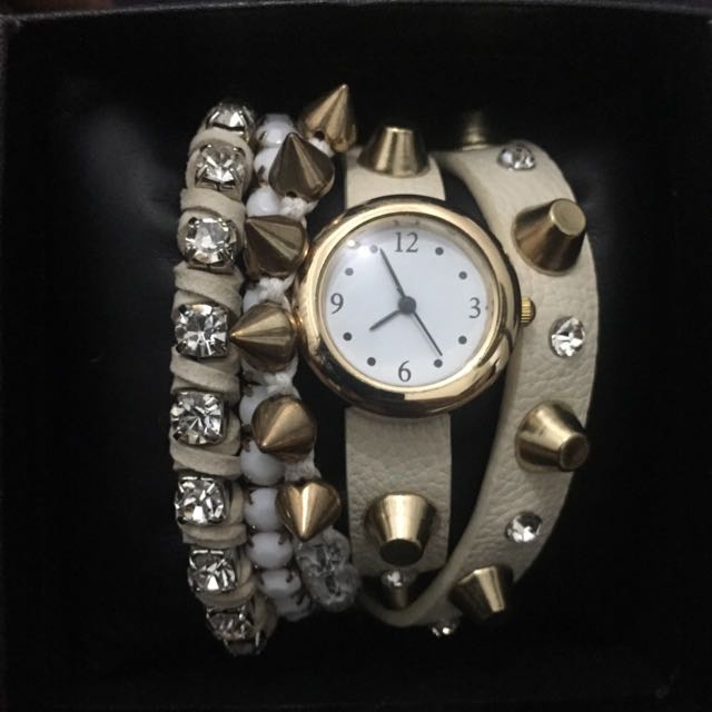 Watch From The US- Double Wrap With Bracelets- New