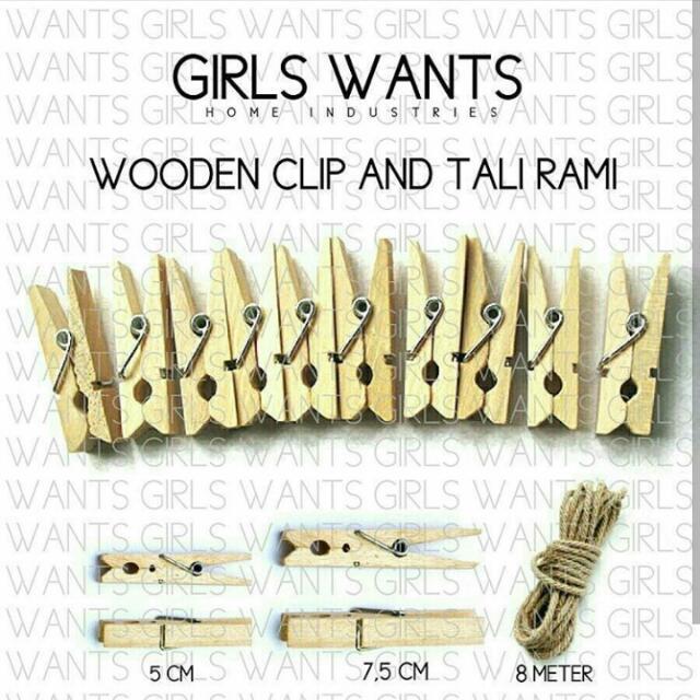 Woodenclip Dan Tali Rami