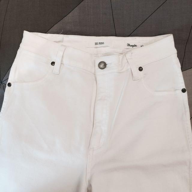 Wrangler White Noise Hi Pins Jeans