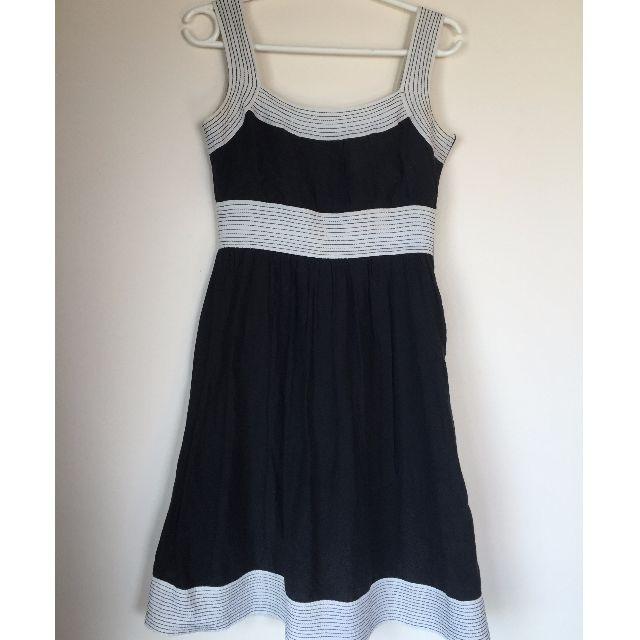 Zara Monochrome Cotton/Silk Dress Size S