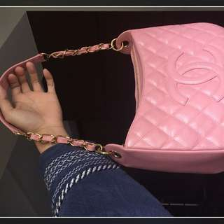 Chanel/香奈兒/粉紅色/粉色/肩背包