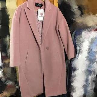 韓版厚毛呢大衣