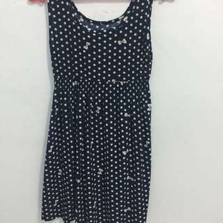 Navy Polka Dress