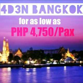 4 Days 3night Bangkok hotel and roundtrip transfers