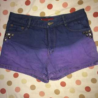 DIY Ombre Studded Shorts