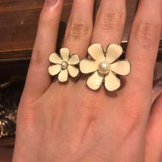 Flower Double Ring