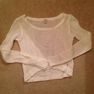 White GUESS Knit Sweater