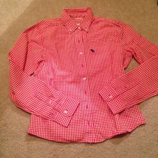 Red/White Abercrombie Gingham Shirt
