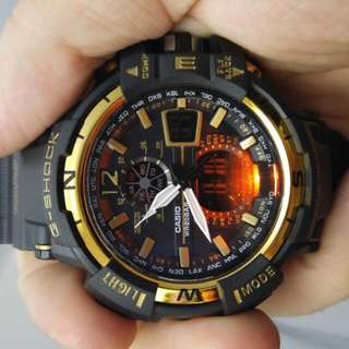 G Shock Black And Gold Watch Brand New