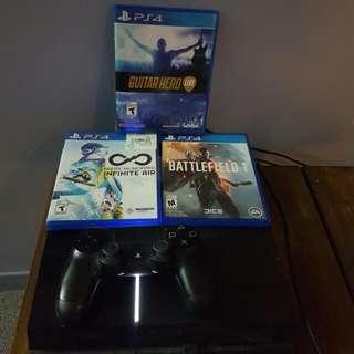 PS4- 1 Controller, Battlefield 1, Guitar Hero Live, Mac Mcmorris Infinite Air