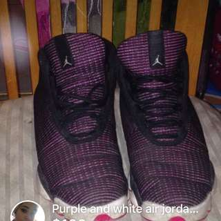 Purple And White Air Jordan's 13