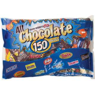 All chocolate fun size variety 150ct