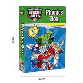 Transformers Rescue Bots: Phonics Box Paperback