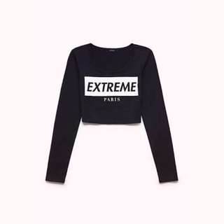 Forever21 Extreme Paris Crop Top - Small