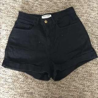 American Apparel Black Shorts