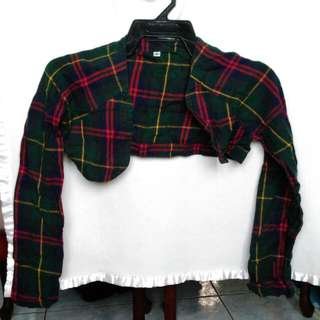 Free Shipping! Long Sleeves Checkered Bolero