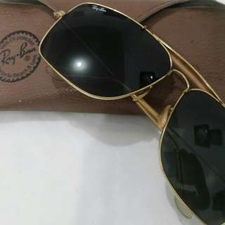 1980's VINTAGE B&L RAY BAN W0504 GP G15 OUTDOORSMAN EXPLORER AVIATOR SUNGLASSES