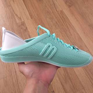 Melissa Translucent Mint Love System Sneakers