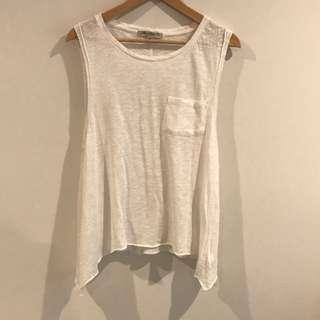 Mavi Jeans | White Singlet | Small