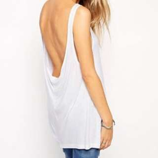 ASOS | White Low Scoop Back Singlet