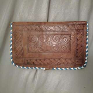 Vintage East African Wallet, Hand Made And Stitched