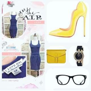 Forver 21 blue stripes dress